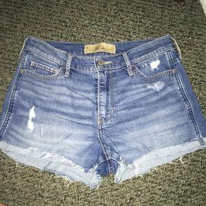 Hollister High Waisted Jean Shorts